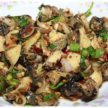 ก้อยหอย (ยำหอย), ก้อย, หอย, ก้อยหอย, ยำหอย, หอยเชอรี่, shellfish, Pomacea canaliculata