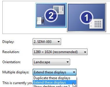 เปิด Windows เป็น 2 จอ, 2 Monitor, open windows 2 monitor,