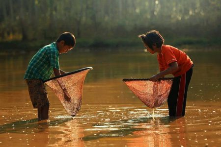 ซอน, ซอนฮวก, หาอยู่หากิน, ซอนปลา, สวิง, หวิง, เด็กน้อย,